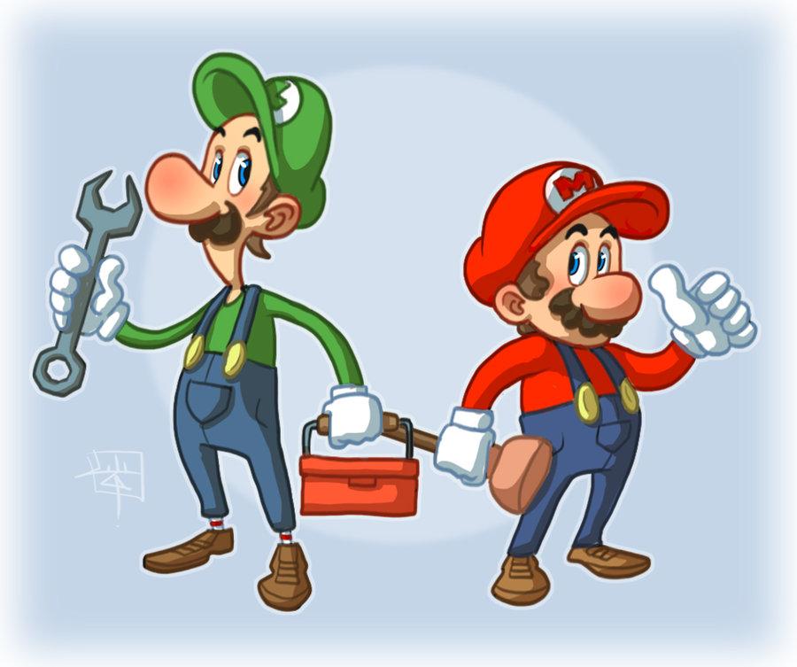 mario and luigi by luigil1 50 Incredible Super Mario Bros Artworks