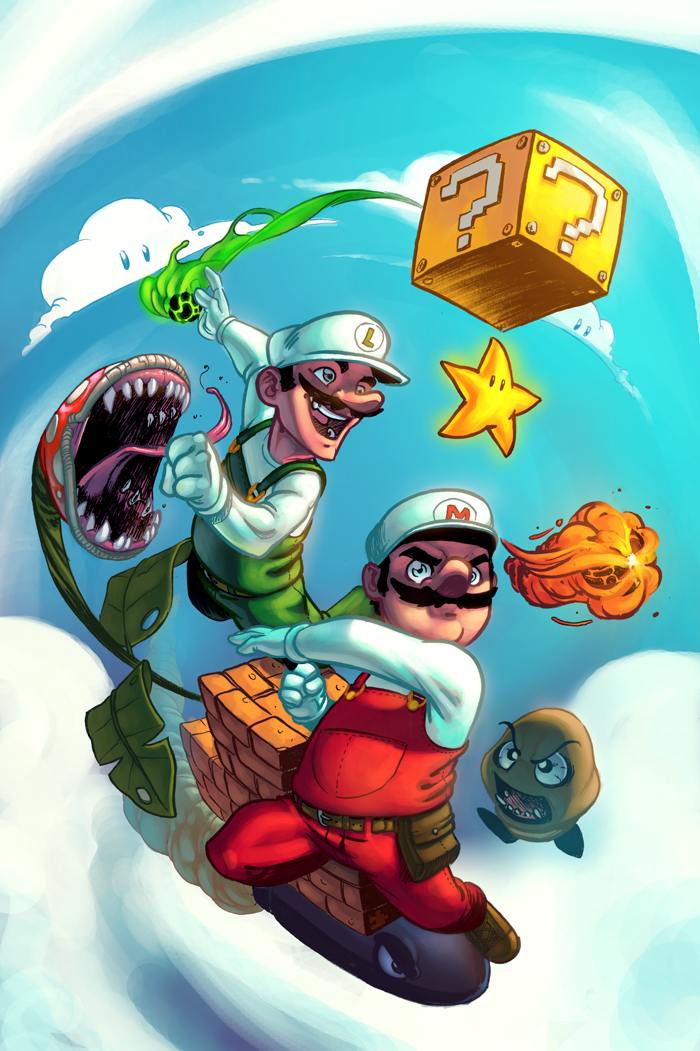 mario bros by murfish1 50 Incredible Super Mario Bros Artworks