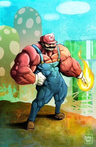 mario war by goretoon1 50 Incredible Super Mario Bros Artworks
