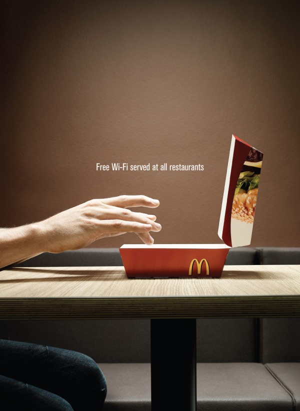 mcd wi fi1 35 Creative McDonalds Corp Advertising Practices