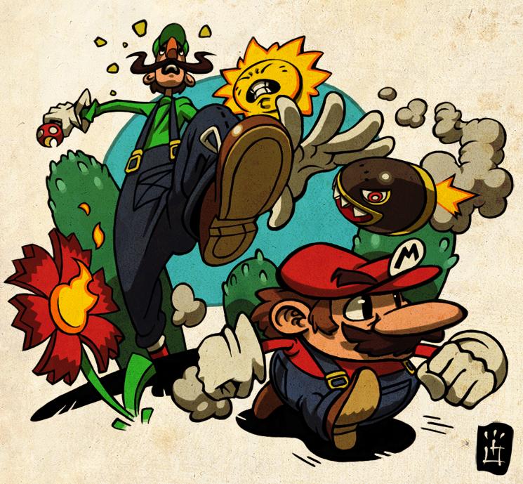 mega mini by imson1 50 Incredible Super Mario Bros Artworks