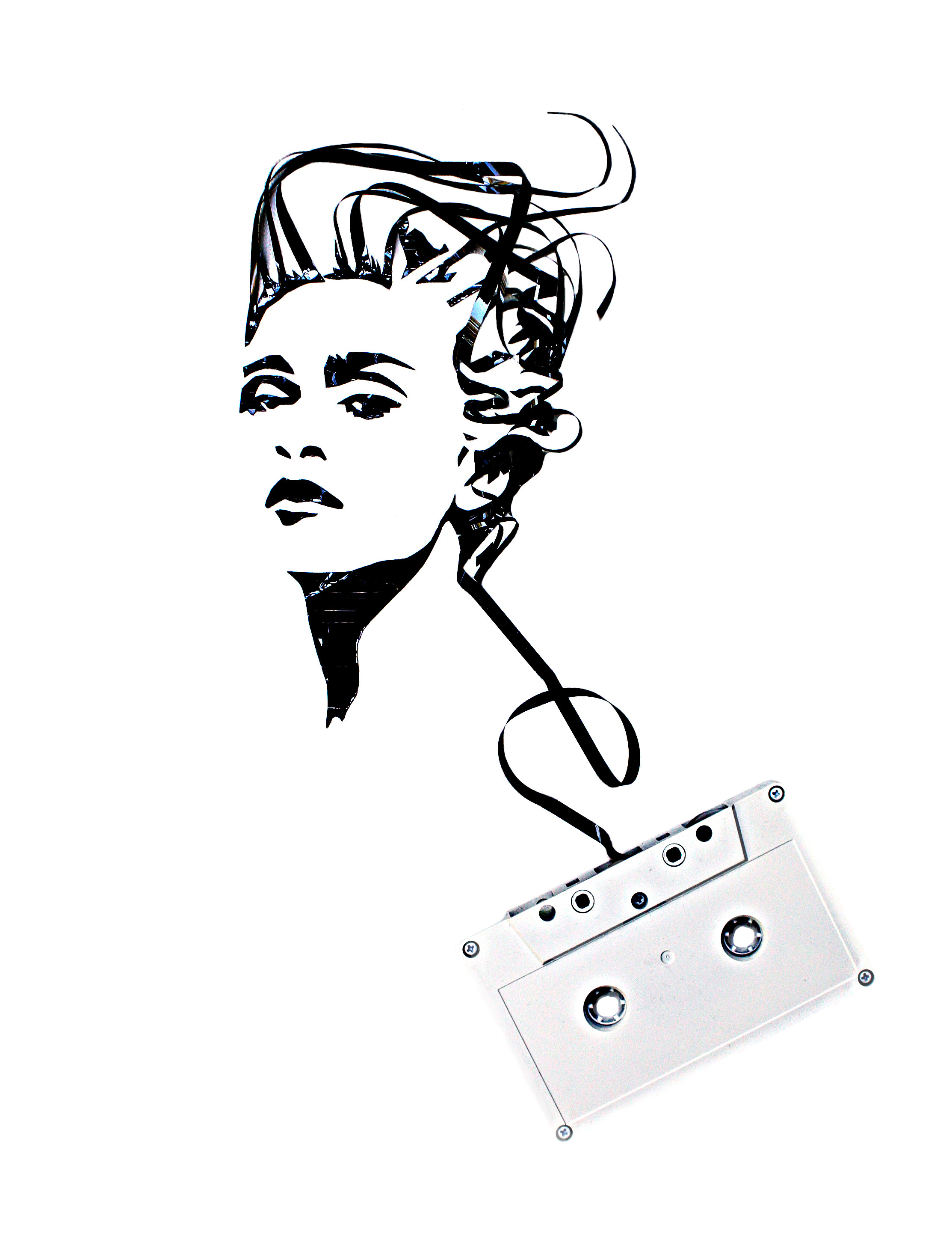 photoshop madonna1 Magnificent Cassette Art by Erika Iris Simmons