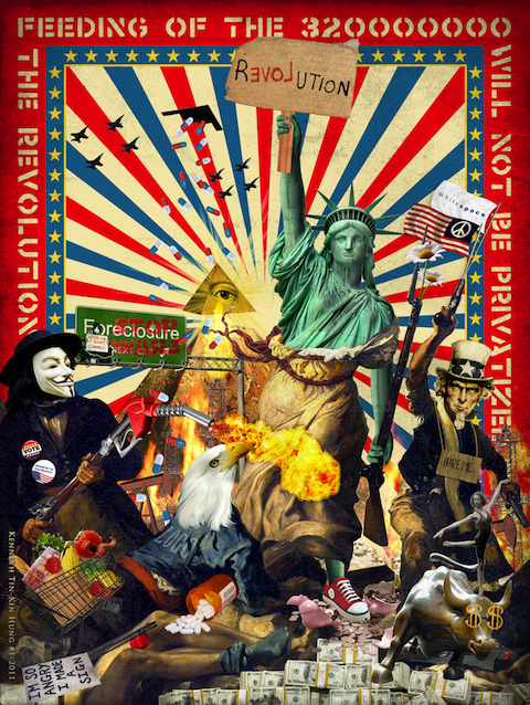 revolutionwillnotbeprivatized1 40 Exciting Occupy Movement Poster Designs