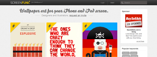 screen funk 10 Top Notch iPad Wallpaper Websites