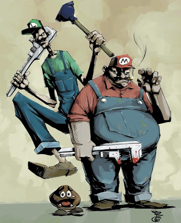 super mario brothers by bregolas1 50 Incredible Super Mario Bros Artworks