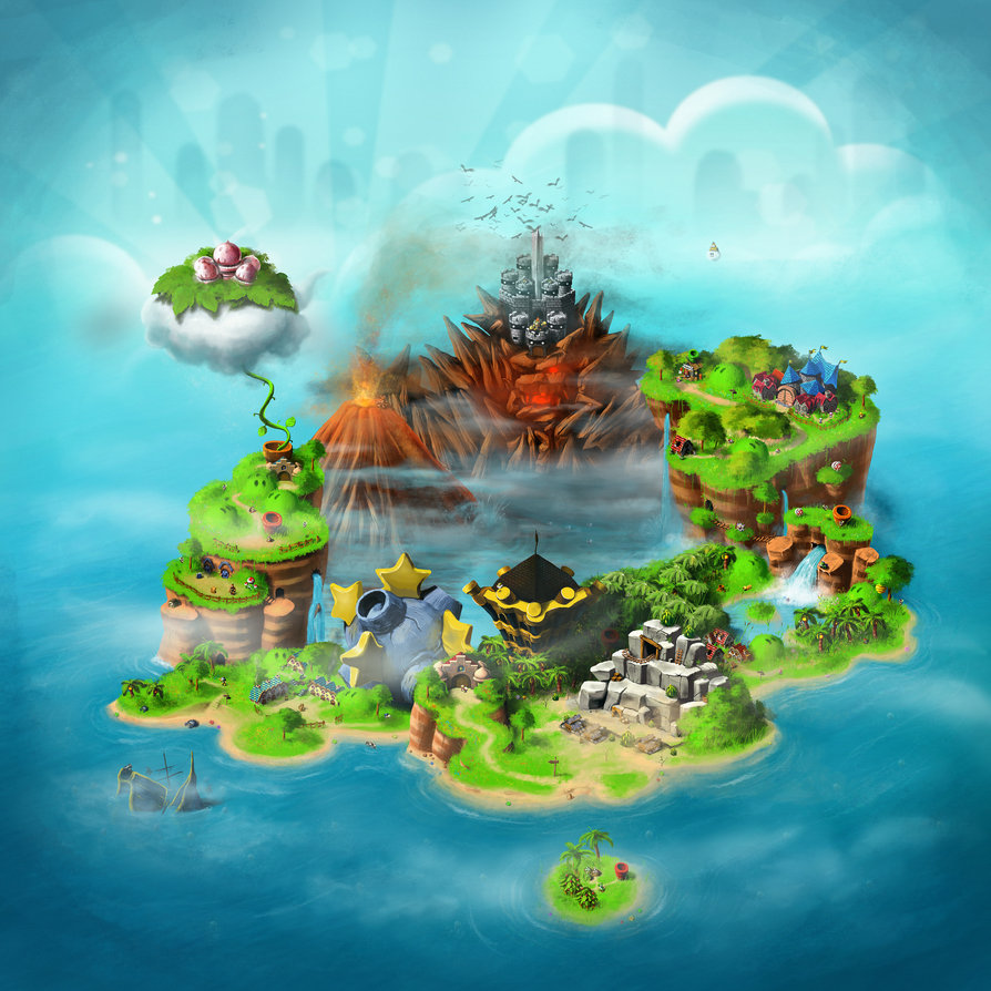 super mario rpg world map by ihateyouare d3172s11 50 Incredible Super Mario Bros Artworks