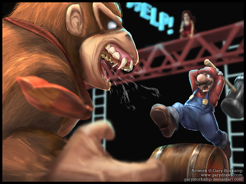 the king of kong by garystorkamp1 50 Incredible Super Mario Bros Artworks