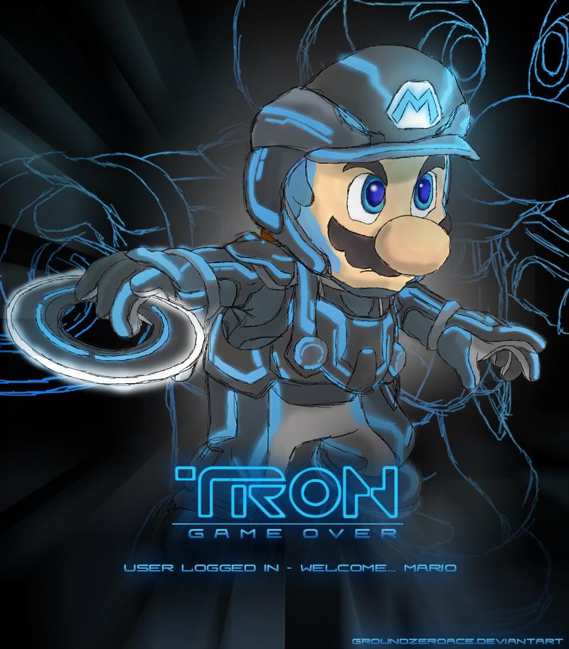 tron user login   mario by groundzeroace d36z6ig1 50 Incredible Super Mario Bros Artworks