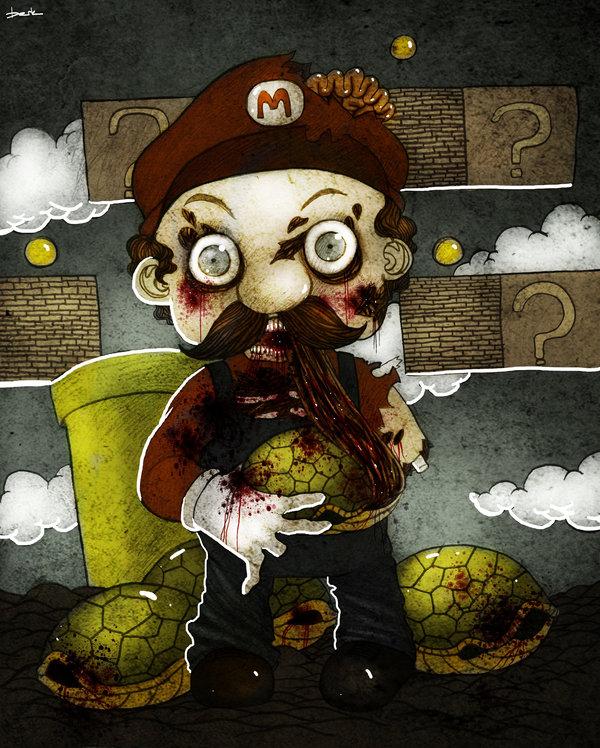zombie mario by berkozturk d3c7erw1 50 Incredible Super Mario Bros Artworks