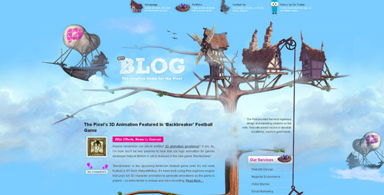 14 awesome header1 Attracting Readers Via Website Header (Tips and Inspiration)