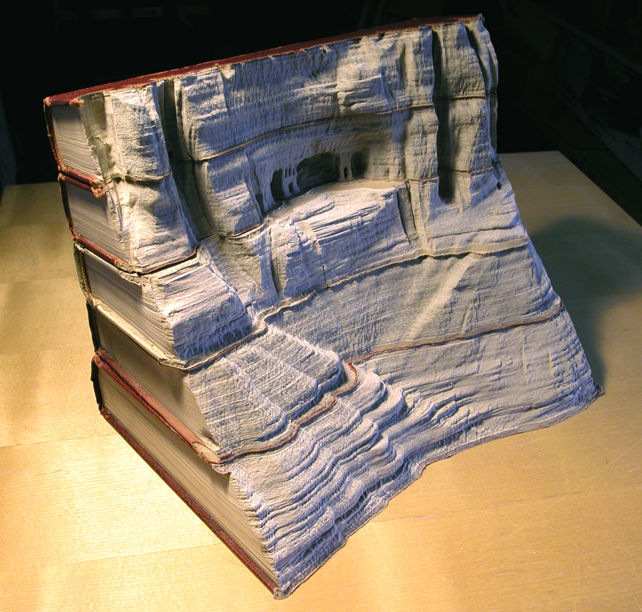 16 book people 1s1 Mind Blowing Book Sculptures by Guy Laramee