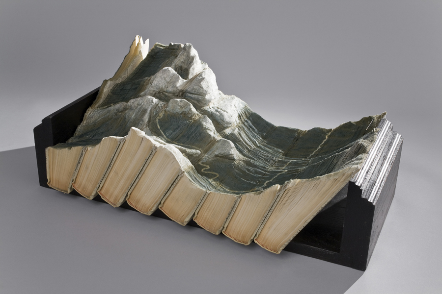 16 tectonic 1s1 Mind Blowing Book Sculptures by Guy Laramee