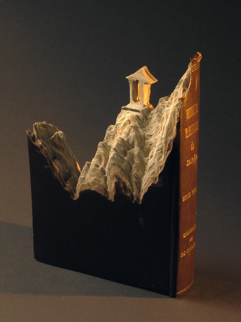 18 historia illustrada do japaos1 Mind Blowing Book Sculptures by Guy Laramee