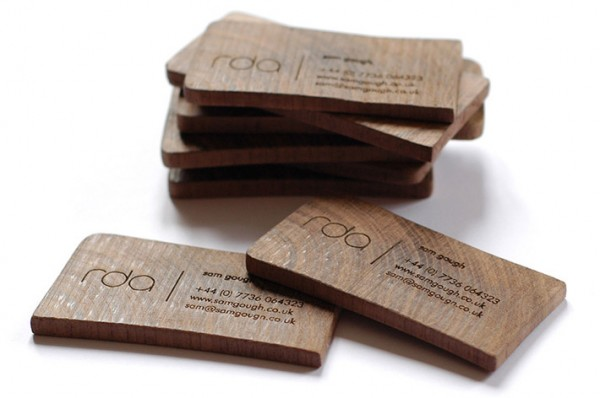 25 unconventional wooden business cards inspirationfeed rda wooden business cards reheart Choice Image