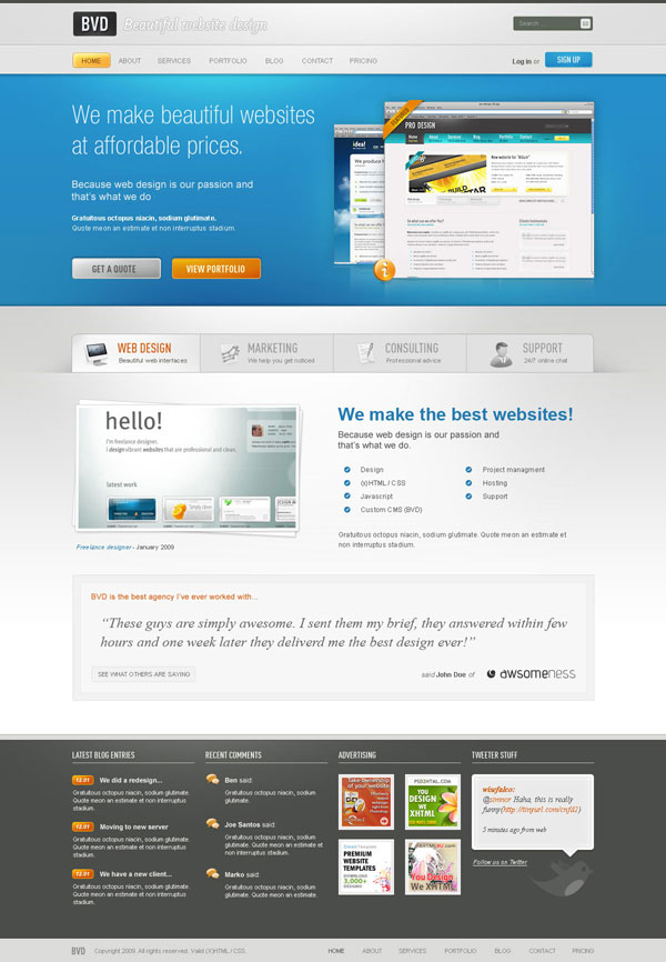 621 30 Detailed Photoshop Website Design Tutorials