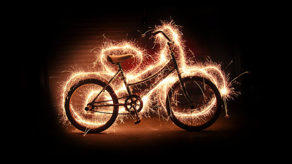 bike1 20 Mind Melting Examples of Light Painting
