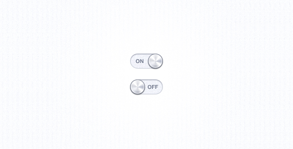 clean white ui switch1 20 Elegant User Interface Switch Designs