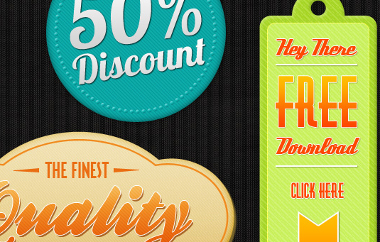 free retro badges 30 Gorgeous Freebies from Wegraphics