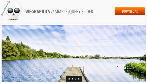 free simple jquery slider 30 Gorgeous Freebies from Wegraphics