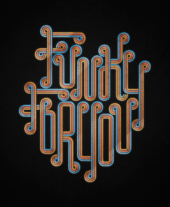 funky for you l1 60 Remarkable Examples Of Typography Design #6