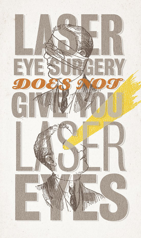 laser eye surgery l1 60 Remarkable Examples Of Typography Design #6