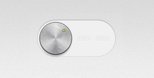 metal damaged switch user interface element1 20 Elegant User Interface Switch Designs