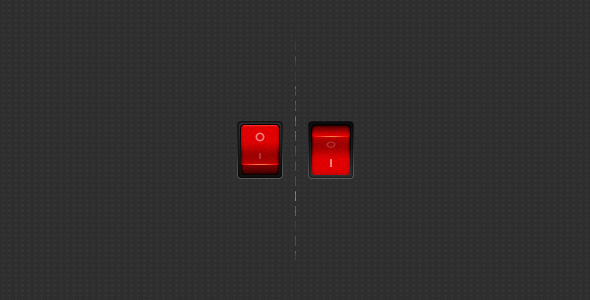 red on off switch ui design1 20 Elegant User Interface Switch Designs