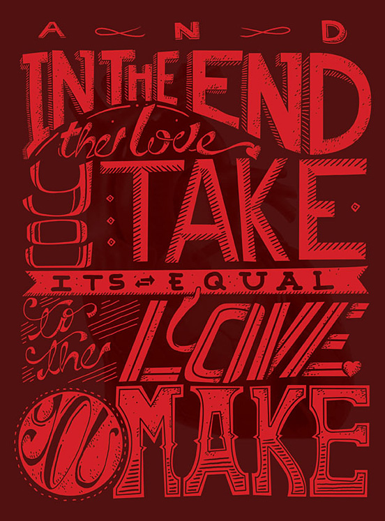 th love you take l1 60 Remarkable Examples Of Typography Design #6
