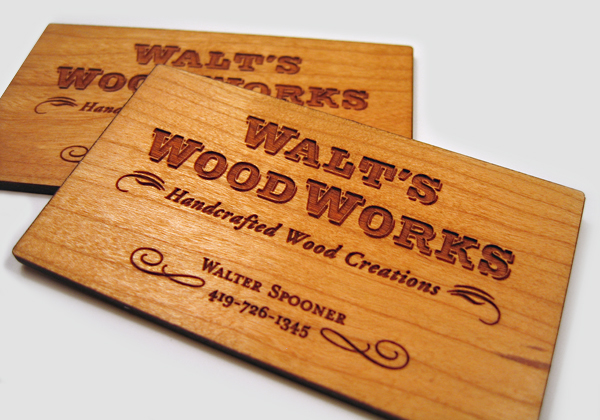 25 Unconventional Wooden Business Cards