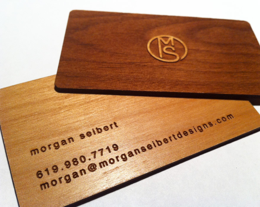 wood card1 25 Unconventional Wooden Business Cards