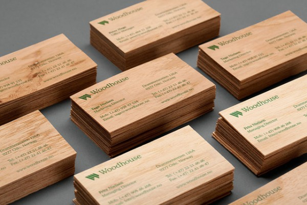 woodhouse 600x4001 25 Unconventional Wooden Business Cards