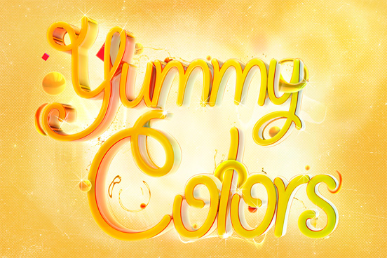 yummy colors l1 60 Remarkable Examples Of Typography Design #6