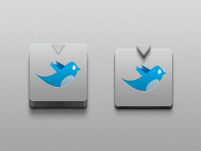 3d button 400x3001 45+ Delicious Free Twitter Icons and Resources