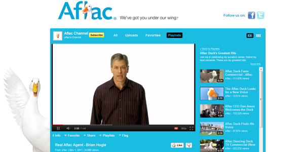 aflac 30 Professionally Designed Youtube Channels