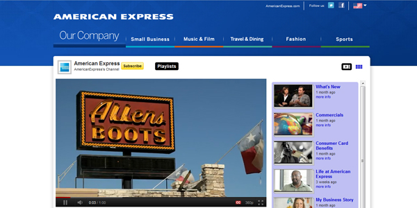 american express 30 Professionally Designed Youtube Channels