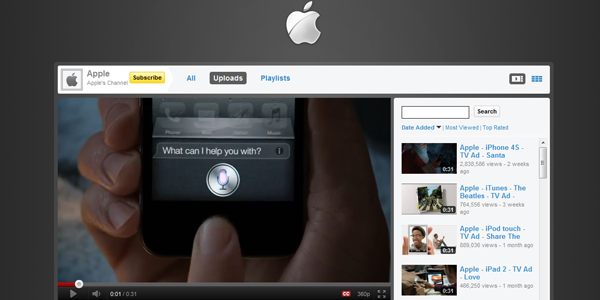 apple 30 Professionally Designed Youtube Channels