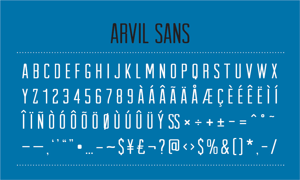 arvil three1 25 Well Crafted Free Minimal Fonts