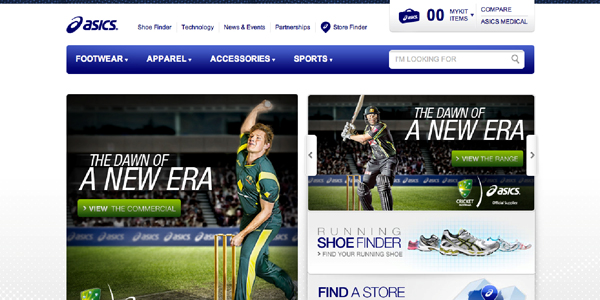 asics Showcase of E Commerce/Sport Website Designs