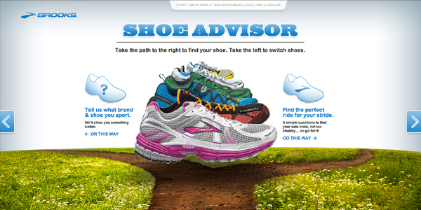 brooks shoe advisor Showcase of E Commerce/Sport Website Designs