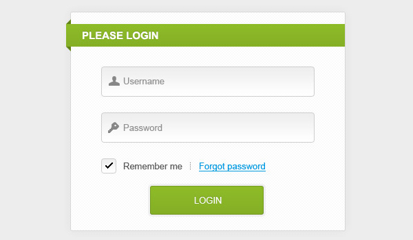 25 free psd login page template files inspirationfeed for Php login templates free download