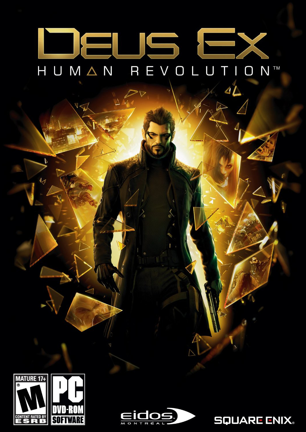 deus ex human revolution box art11 Top 10 Video Game Covers Of 2011