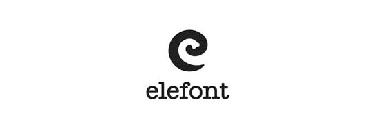 elefont logo1 30 Clever Logos With Hidden Messages