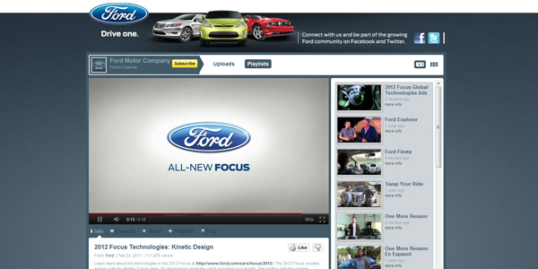 ford 30 Professionally Designed Youtube Channels