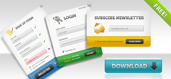 25 Free Psd Login Page Template Files