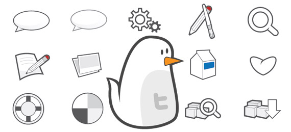 free vector icon set twitter birdie1 45+ Delicious Free Twitter Icons and Resources
