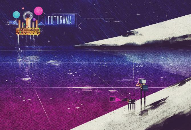 futurama screenie1 Beautifully Textured Artwork by Dan Matutina
