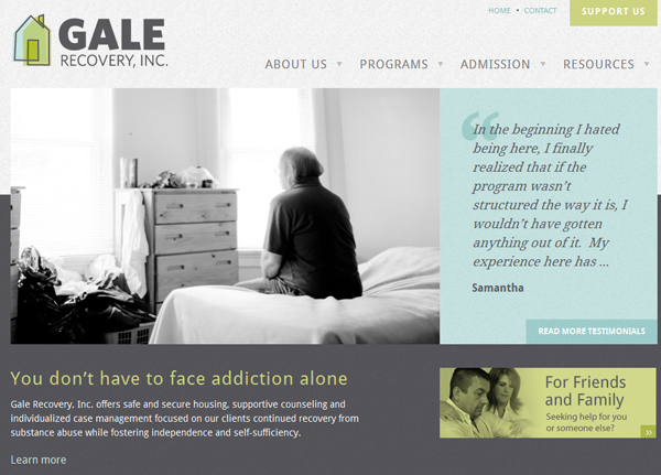 galerecovery 25 Glorious Charity and Non Profit Web Designs
