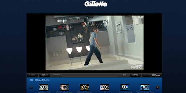 gillette 30 Professionally Designed Youtube Channels