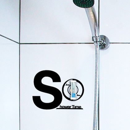 hu2 shower sand timer 4201 40 Innovative Wall Stickers by Hu2 Design