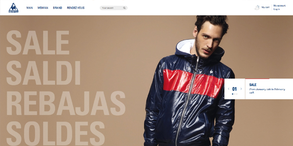 le coq sportif Showcase of E Commerce/Sport Website Designs